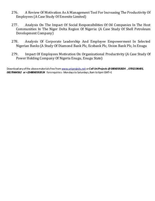 employee determination in addition to production the case review from esut enugu