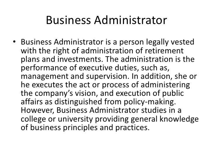 business administrator duties