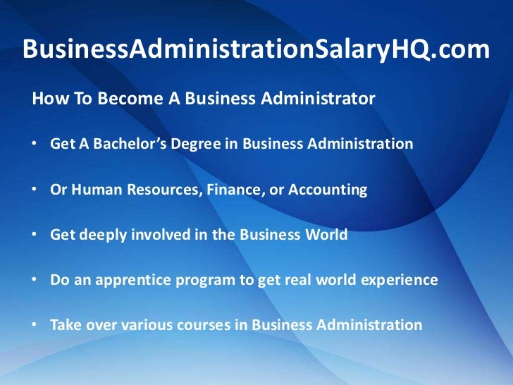 Business Administration Salary - All The Info For A Great Career