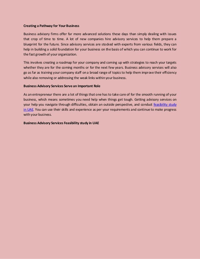 Business advisory services and feasibility study in UAE Slide 2