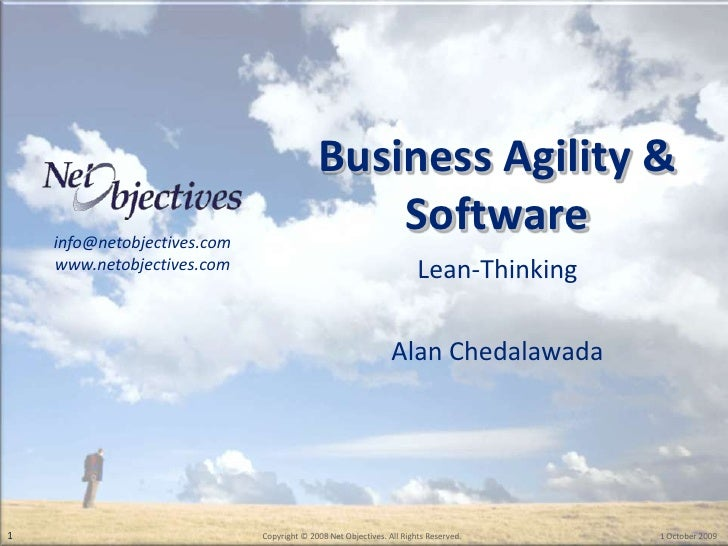 Business Agility & Software<br />Lean-Thinking<br />Alan Chedalawada<br />