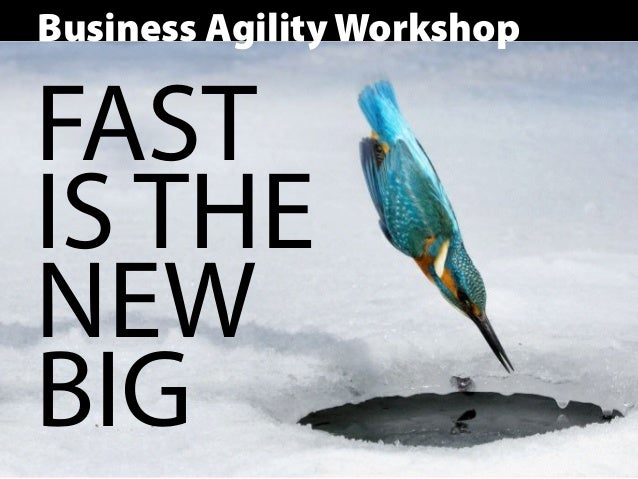 Business Agility Workshop FAST IS THE NEW BIG