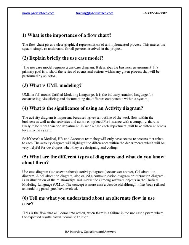 business analyst interview questions and answers sample