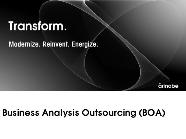 Business Analysis Outsourcing (BOA)