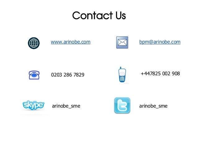 Contact Uswww.arinobe.com      bpm@arinobe.com0203 286 7829        +447825 002 908arinobe_sme          arinobe_sme