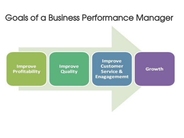 Goals of a Business Performance Manager