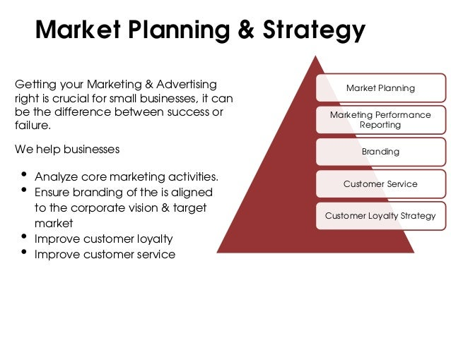 Market Planning & StrategyGetting your Marketing & Advertising                Market Planningright is crucial for small bu...