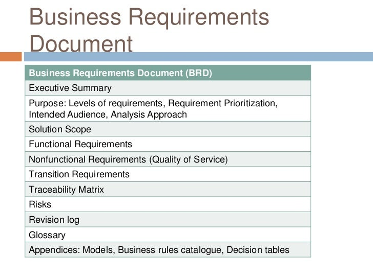Business Requirements Document Example  Ex