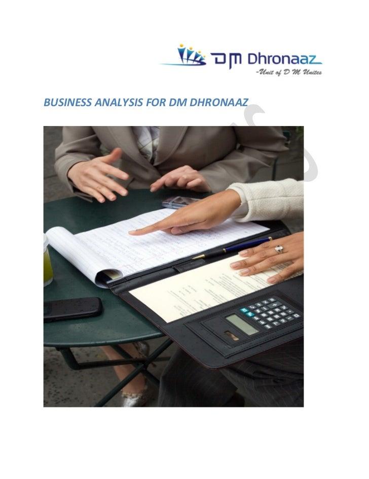 Business analysis sample report, Business Impact Analysis Report ,Bus…