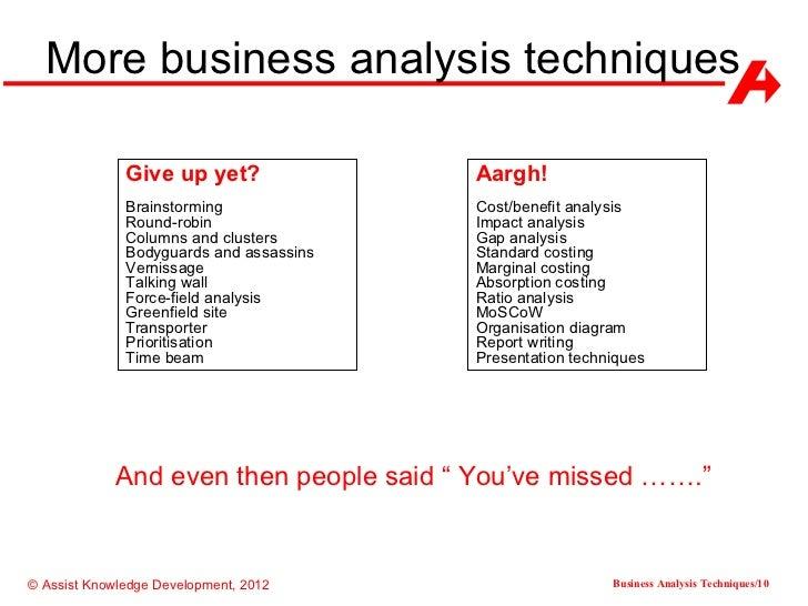 Forecasting & Market Analysis Techniques
