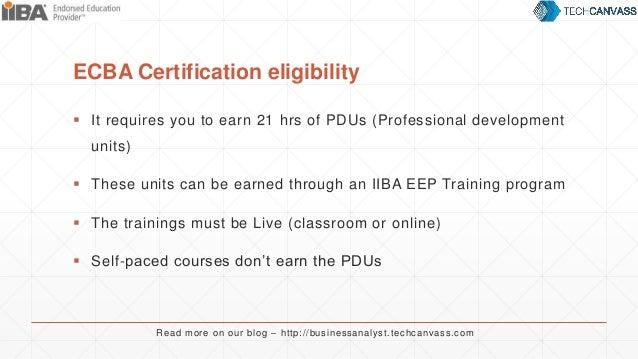 Business analyst certification for beginners ECBA