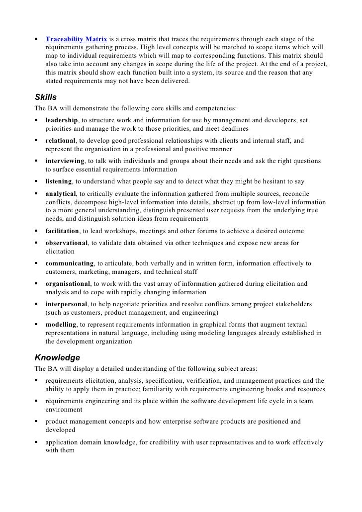 Business Analyst Job Description