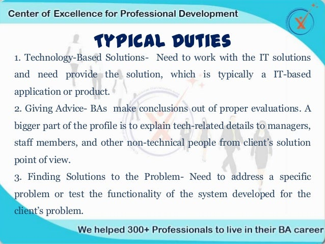6 typical duties - Duties Of Business Analyst