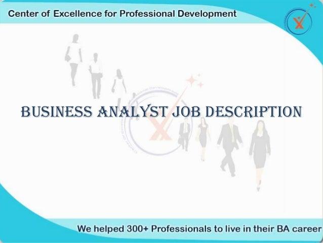 Business Analyst Job Profile Coepd