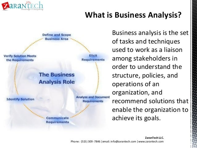 Business Analyst Training From Zarantech