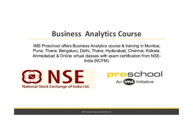Business analytics course with NSE India certification