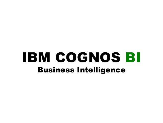IBM's Business Analytics Portfolio for Training Purposes
