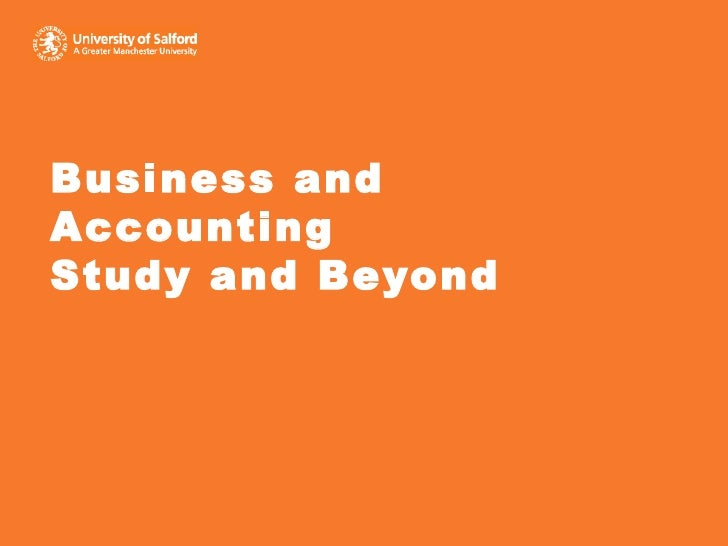 Business and Accounting Study and Beyond