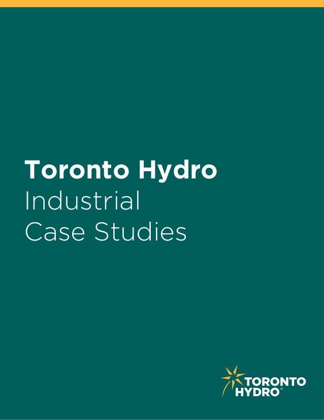 Industrial Case Studies Toronto Hydro