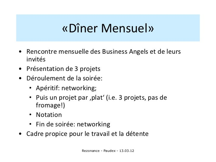 Rencontres business angels