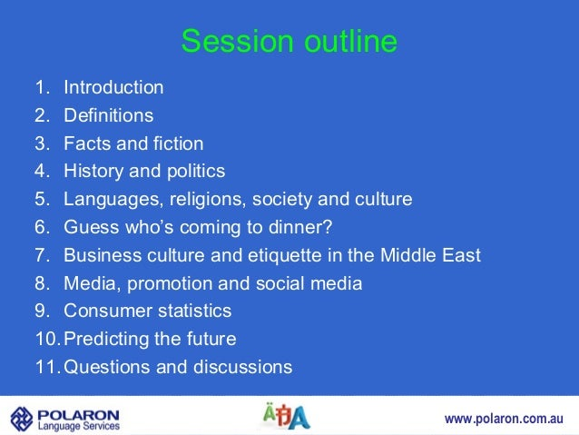Session outline1. Introduction2. Definitions3. Facts and fiction4. History and politics5. Languages, religions, society an...
