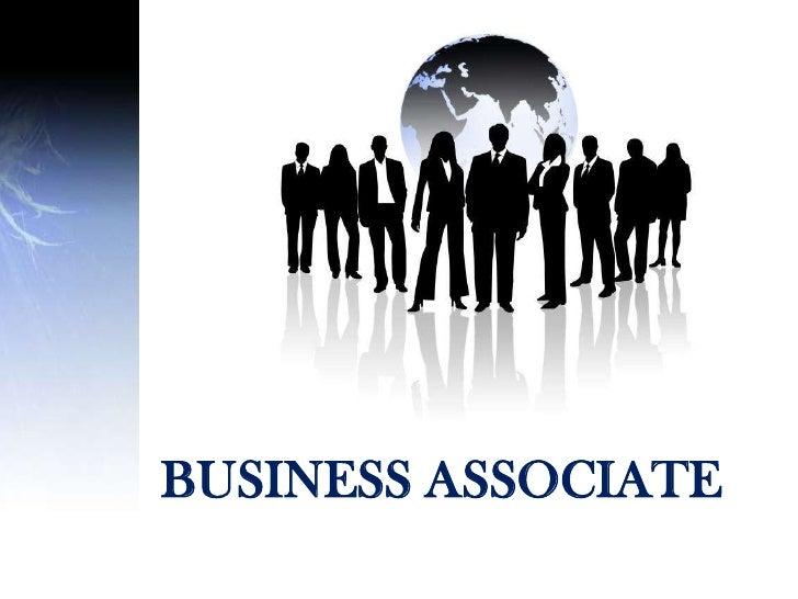 BUSINESS ASSOCIATE<br />