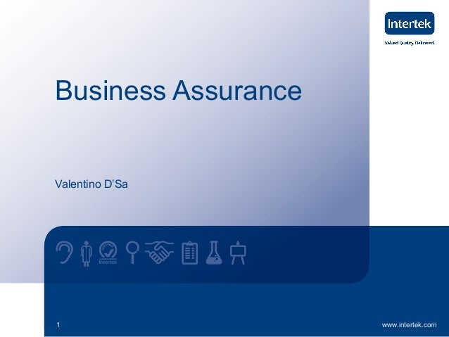 Business Assurance  Valentino D'Sa  1  www.intertek.com