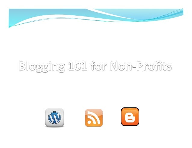 Topics — Introduc)ons  — What is a blog? — Why should you have one? • How to generate ...
