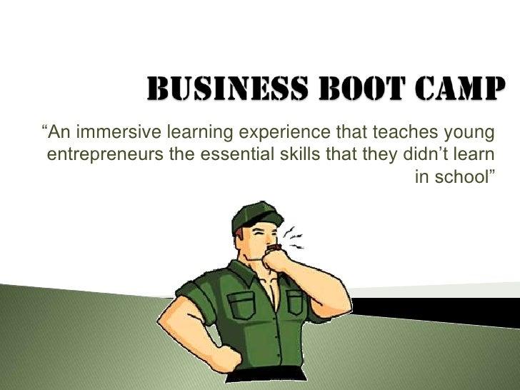 Business boot camp presentation for slideshare