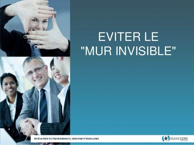 """EVITER LE """"MUR INVISIBLE""""  RÉVÉLATEUR DE PERFORMANCE & CRÉATEUR D'EXCELLENCE"""