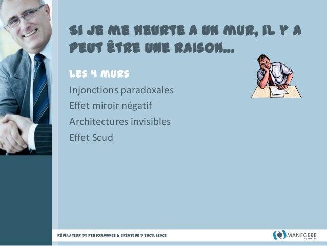 Si je me heurte a un mur, il y a peut être une raison… Les 4 murs Injonctions paradoxales Effet miroir négatif Architectur...
