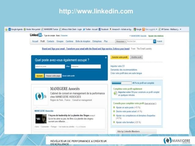 http://www.linkedin.com  RÉVÉLATEUR DE PERFORMANCE & CRÉATEUR D'EXCELLENCE