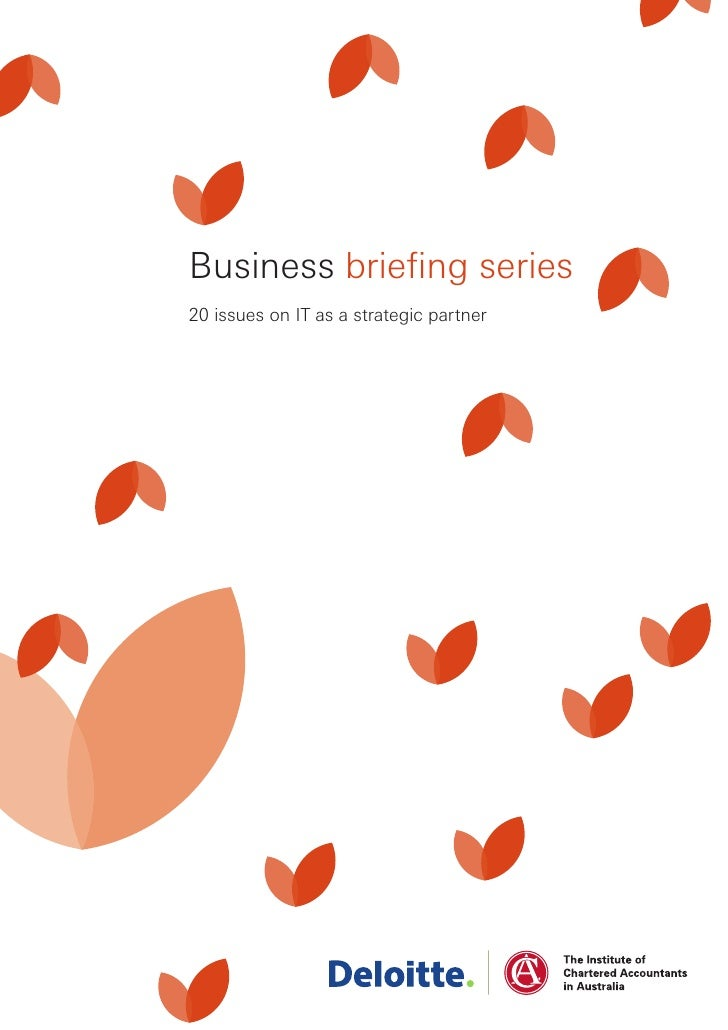 Business briefing series 20 issues on IT as a strategic partner