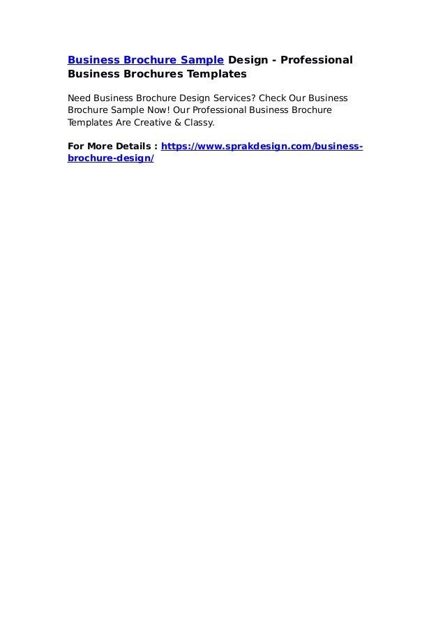business brochure sample design professional business brochures tem