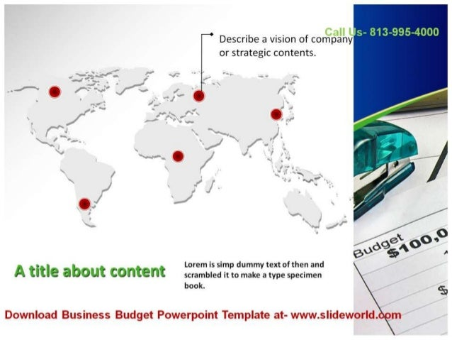 Download Business Budget Powerpoint Template