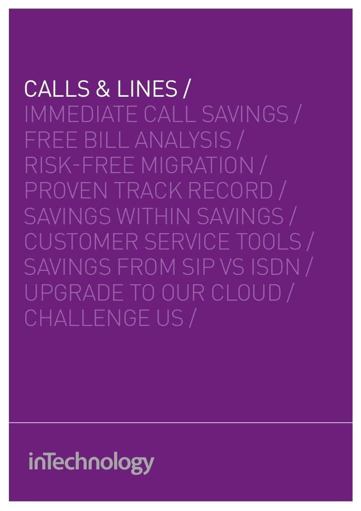 CALLS & LINES /IMMEDIATE cAll SAVINGS /fREE bIll ANAlySIS /RISK-fREE MIGRATIoN /pRoVEN TRAcK REcoRD /SAVINGS wIThIN SAVING...