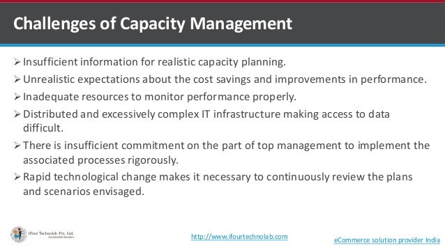  Insufficient information for realistic capacity planning.  Unrealistic expectations about the cost savings and improvem...