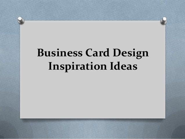Business Card Design Inspiration Ideas