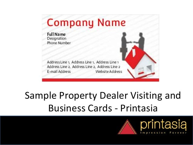Business card designs property dealer printasia property dealer design visiting cards 10 colourmoves