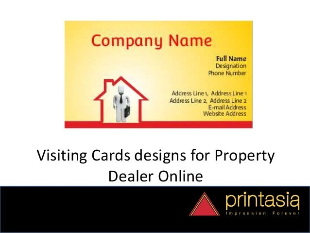 Business card designs property dealer printasia reheart Image collections