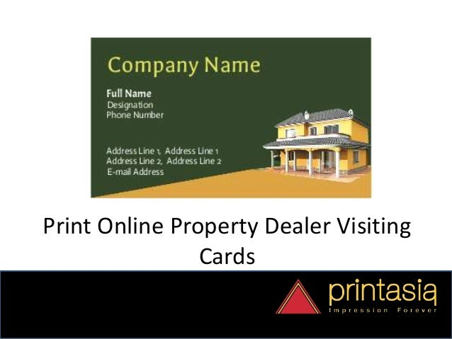 Business card designs property dealer printasia visiting cards designs for property dealer online 5 reheart Image collections
