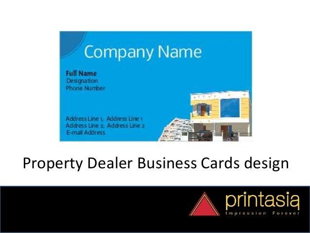 Business Card Designs Property Dealer Printasia