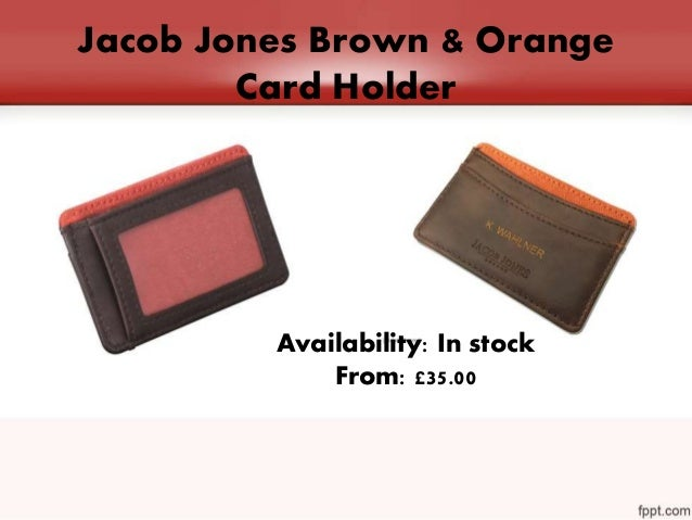 Leave the best impression with stylish business card holder 7 jacob jones brown orange card holder colourmoves
