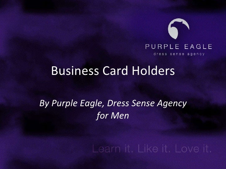 Business Card Holders By Purple Eagle, Dress Sense Agency for Men
