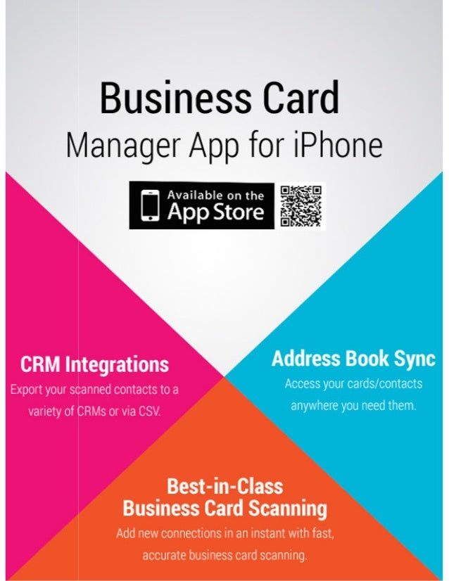 Business Card Manager App For I Phone