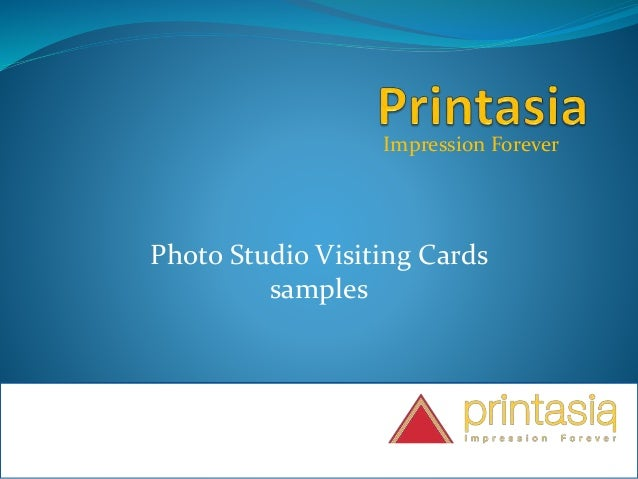 Impression Forever Photo Studio Visiting Cards samples