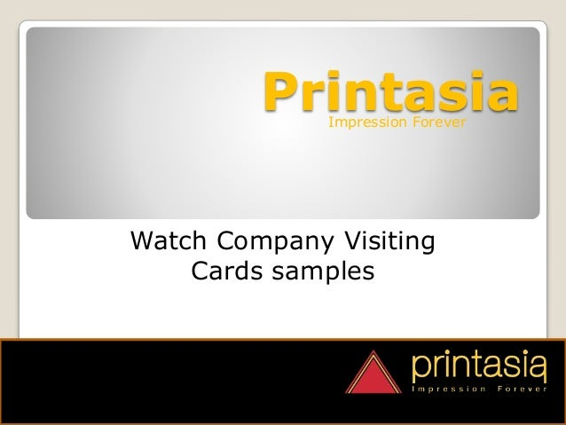 PrintasiaImpression Forever Watch Company Visiting Cards samples