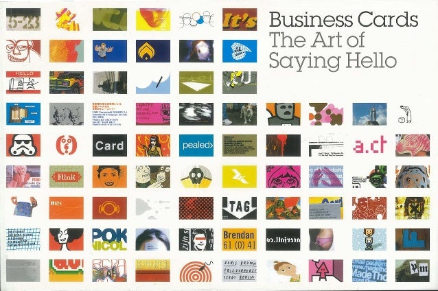 Business cards   the art of saying hello