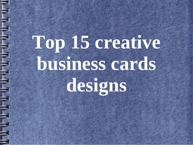 Top 15 creative business cards designs
