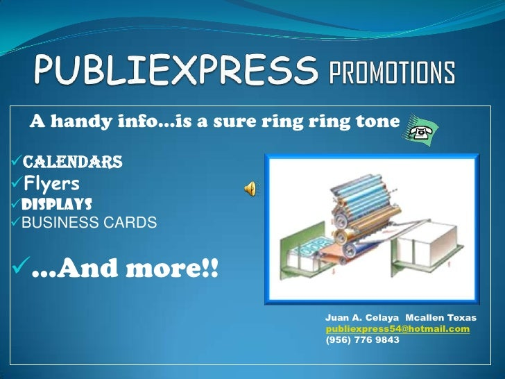Publicity and business cards mcallen texas publicity and business cards mcallen texas publiexpresspromotionsbr a handyinfois a sure ring colourmoves